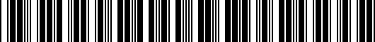Barcode for 7280650010B1