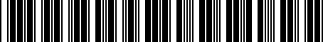 Barcode for 8151050060