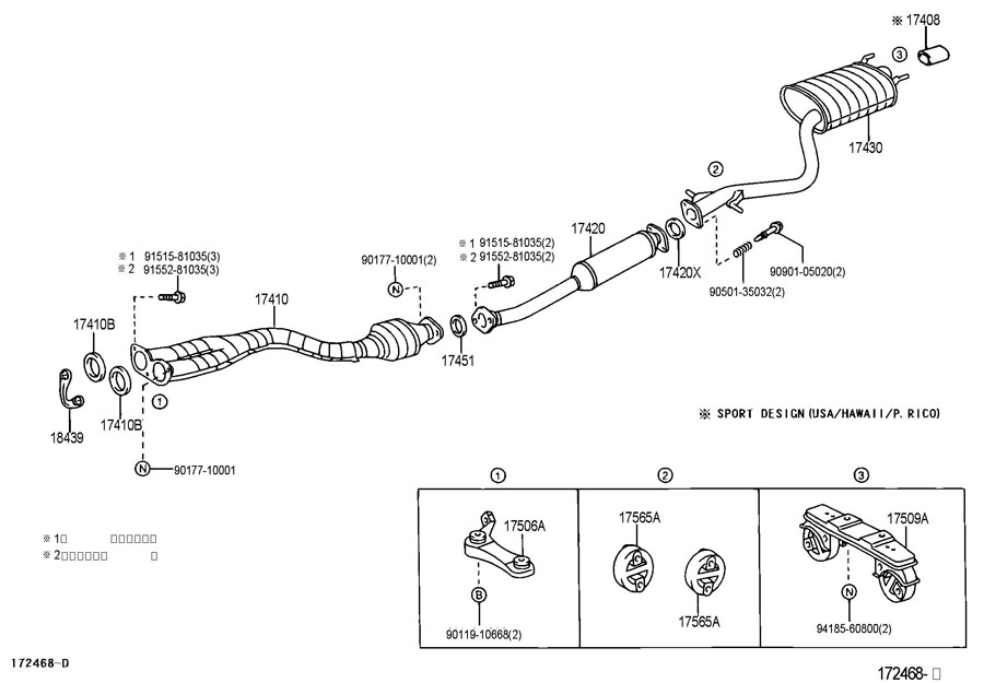 2001 lexus is300 exhaust diagram