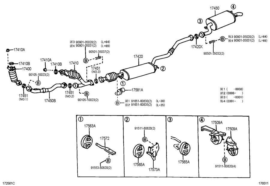 Ford Super Duty Wiring Diagram Manual besides 5f3dn Lexus Rx300 Bank Sensor Lexus Rx300 2oo3 Reg furthermore 220636 02 Sensor Question further ShowAssembly additionally Polaris 700 Triple Engine Diagram. on 1999 lexus exhaust diagram
