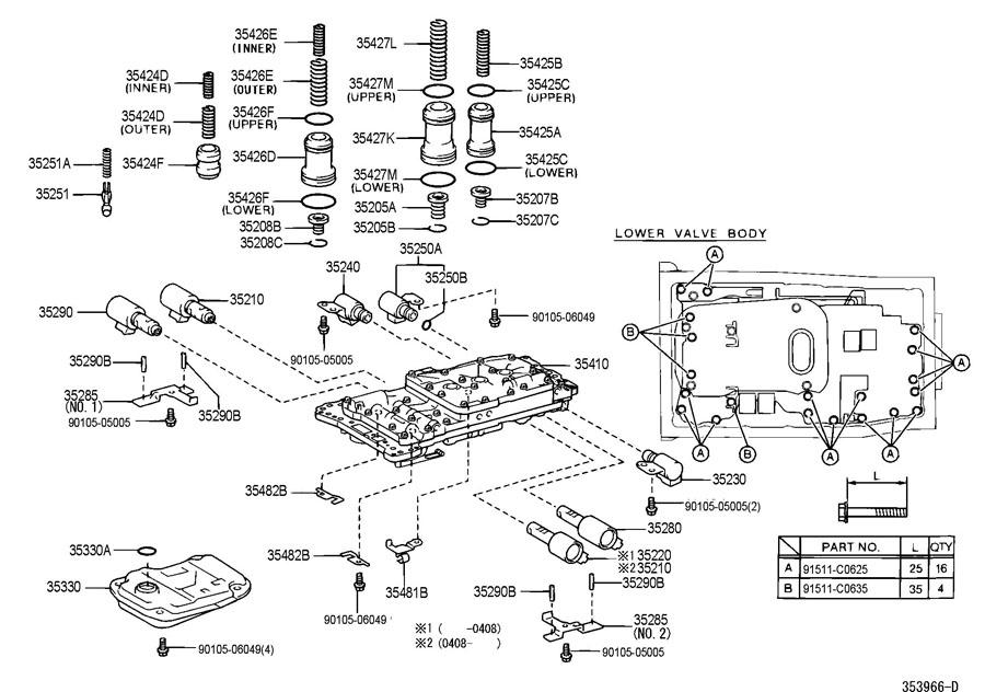 lexus gx470 valve body oil strainer atm. Black Bedroom Furniture Sets. Home Design Ideas