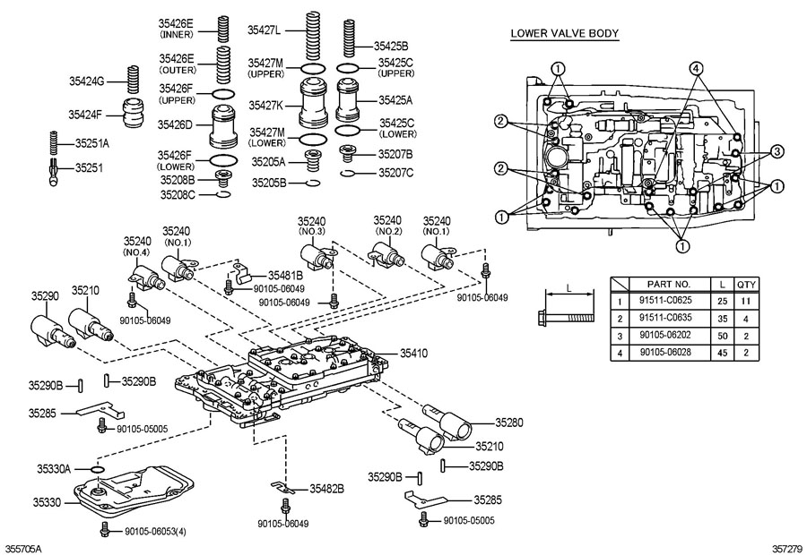 700r4 valve body exploded view diagram