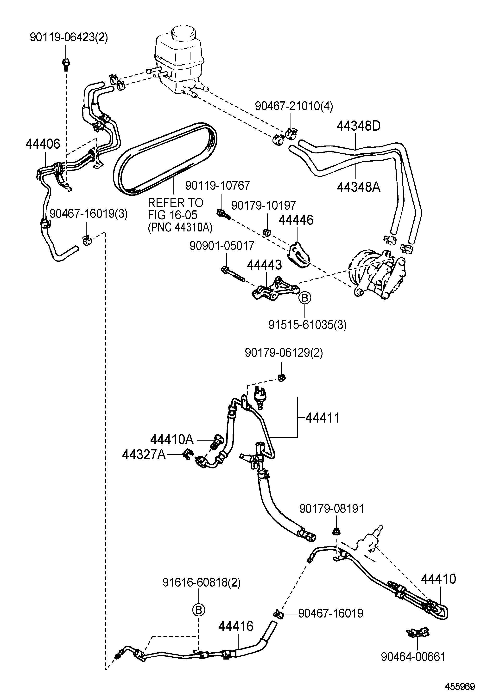 1995 lexus es300 power steering tube