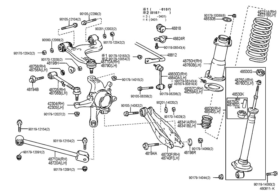 2001 lexus is300 parts diagram