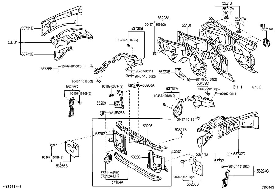 lexus lx470 parts illustration