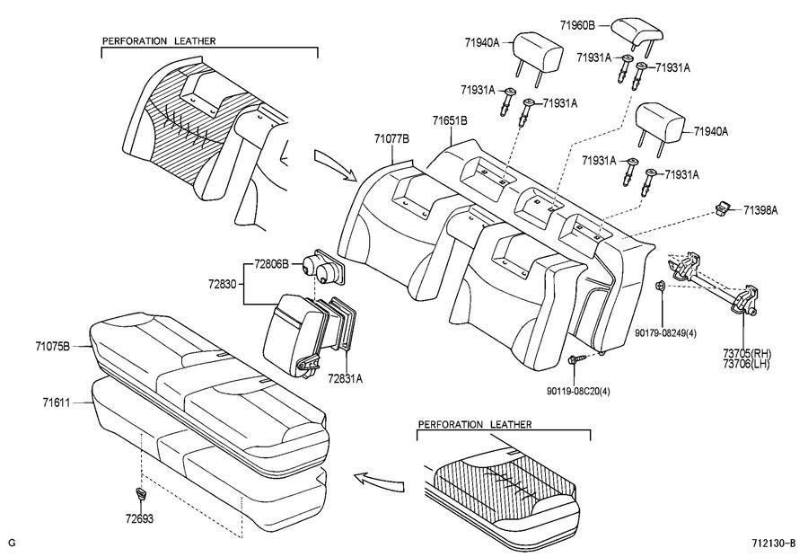 2006 lexus es300 3300cc 24 valve dohc efi automatic rear seat seat track. Black Bedroom Furniture Sets. Home Design Ideas