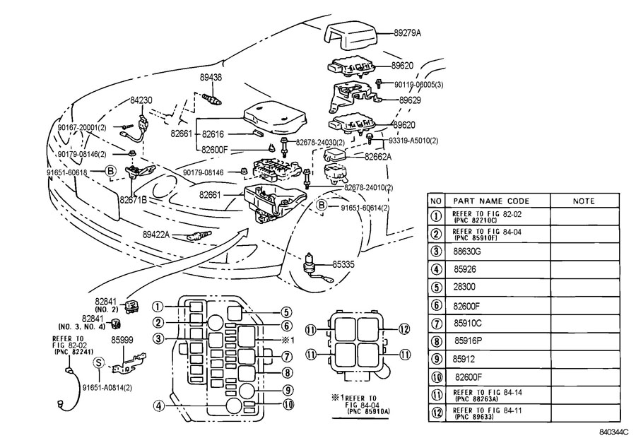 2006 lexus is250 fuse diagram