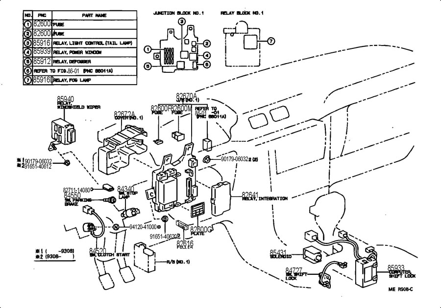 2001 lexus rx300 fuse box diagram