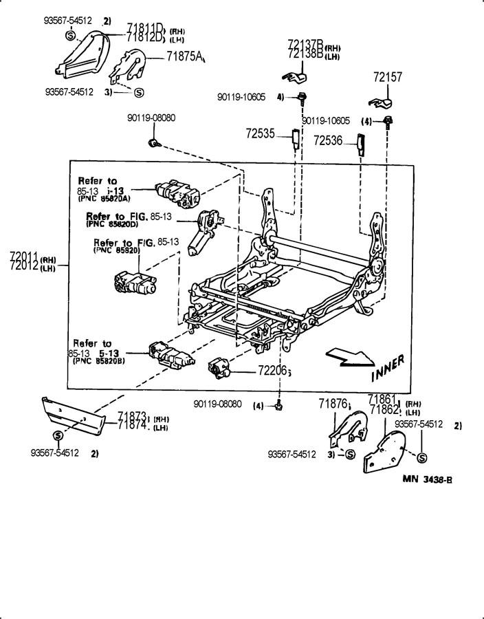 lexus lx450 seat seat track. Black Bedroom Furniture Sets. Home Design Ideas