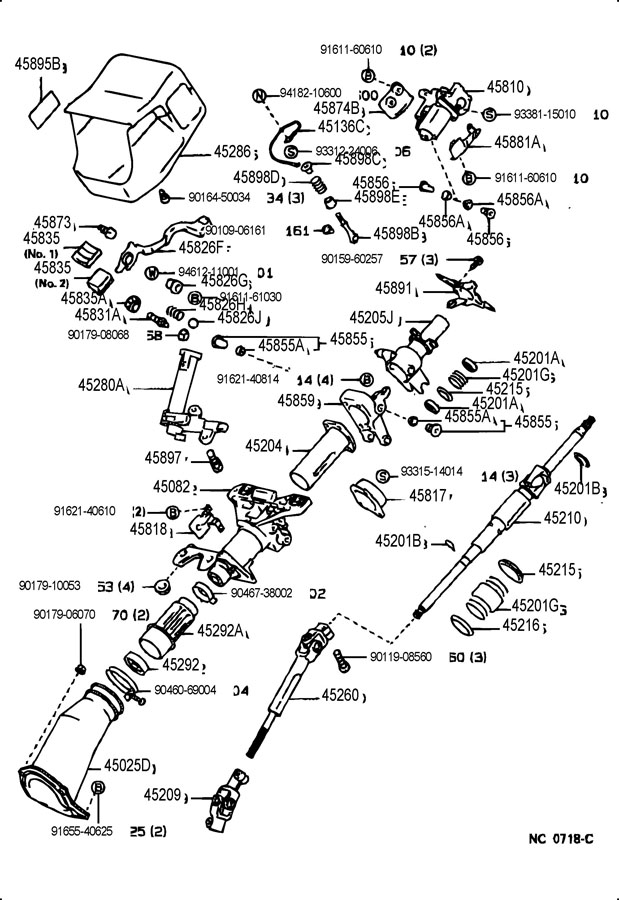 lexus ls400 steering column  u0026 shaft